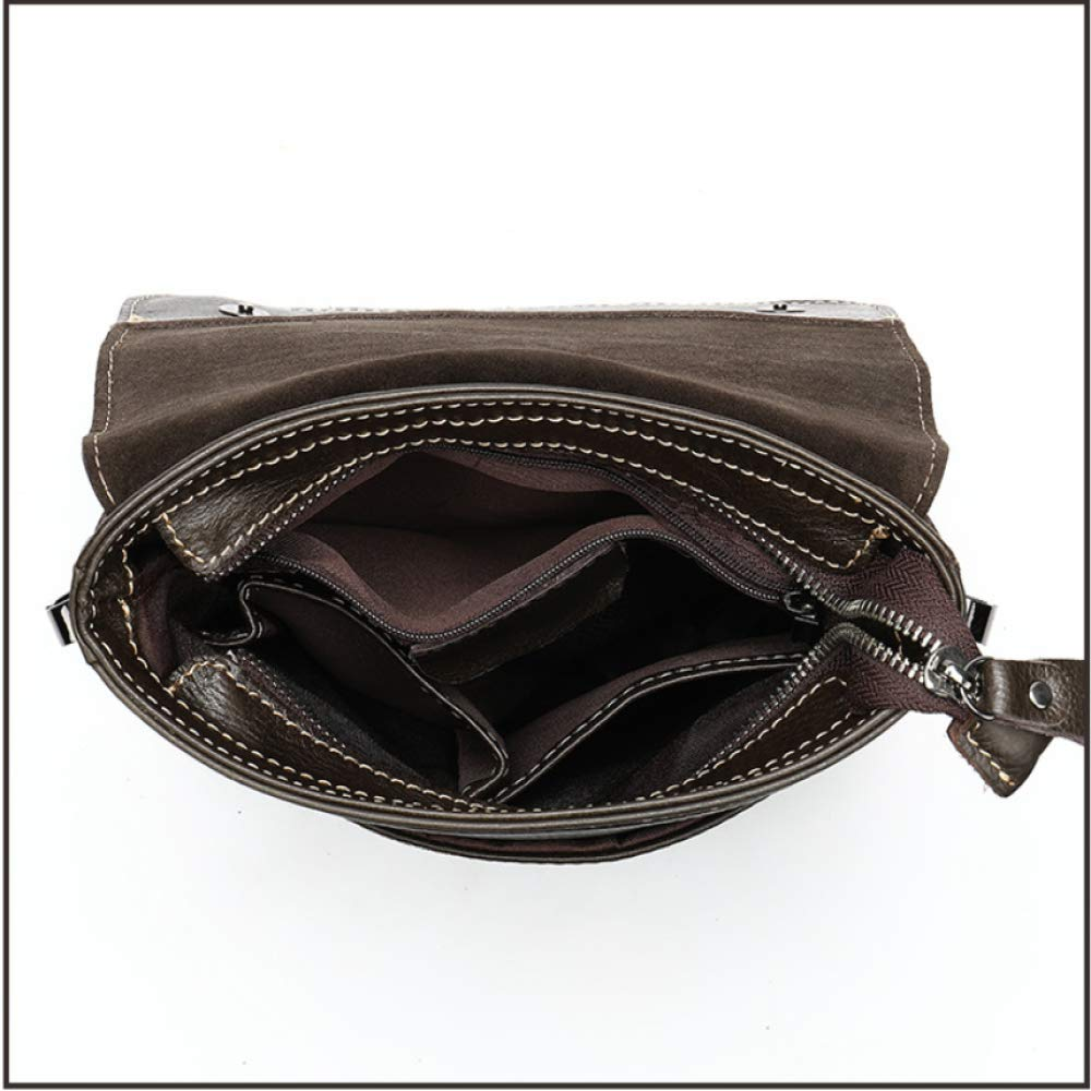 MenS Genuine Leather Shoulder Bag Messenger Bag Flap Men Bag Style Bag Solid Male Business