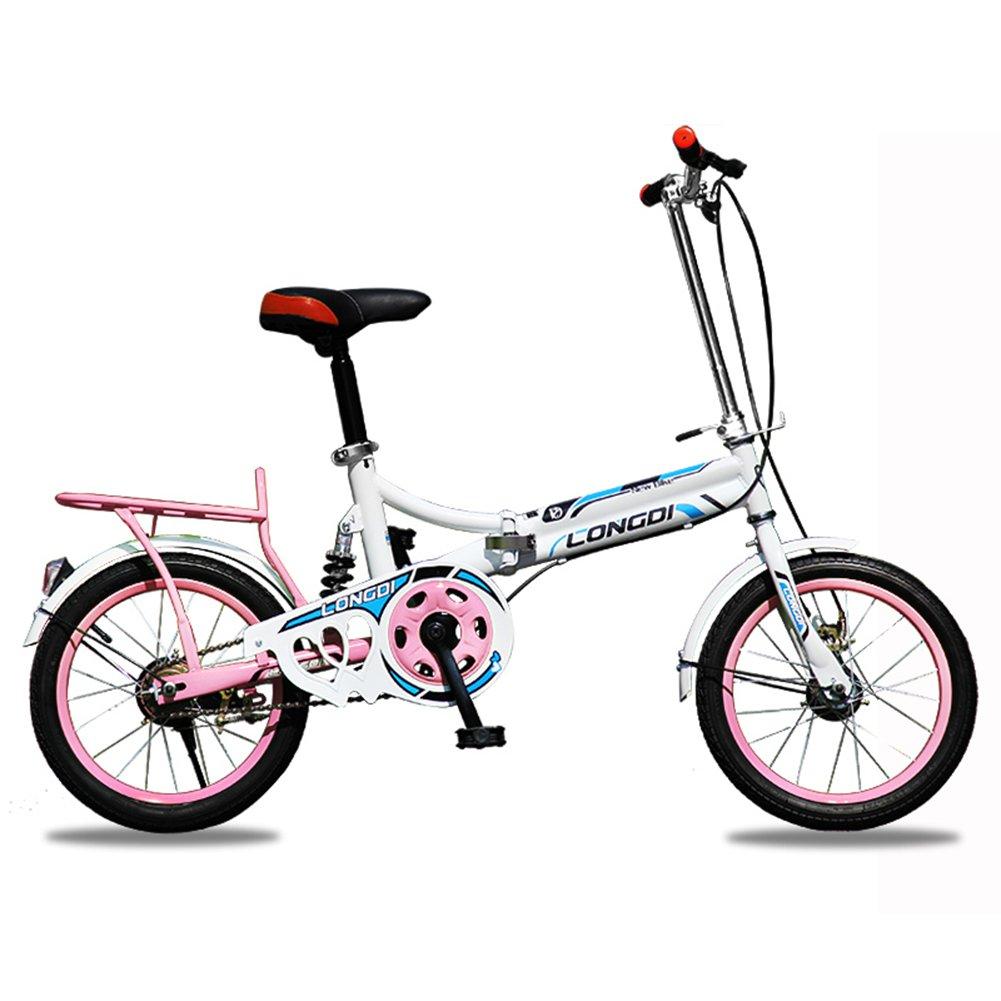 XQ 1613URE Bicicleta Plegable de 16 Pulgadas Adultos Bicicleta Plegable de Una Sola Velocidad de Ultraligero Amortiguación Hombres y Mujeres Estudiante ...