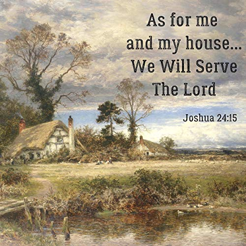 Jolly Jon Double Sided Religious Garden Flag - As for Me and My House - We Will Serve The Lord - Inspirational Bible Verse Joshua 24:15 - Decorative Outdoor Christian Faith Flags - Yard Decor (Today As For Me And My House)