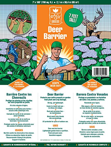 Deer Barrier (Deer Fence Protects Crops, Trees and Shrubs From Animals) UV Protected, 7 feet x 100 feet