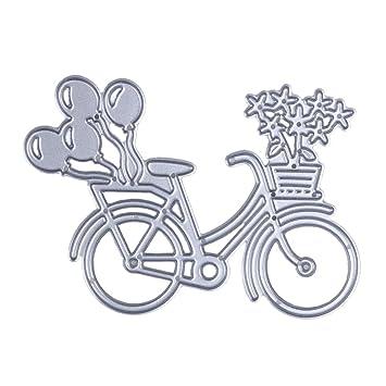 Demiawaking 1Pcs Metall Fahrrad Form Schneiden Schablonen DIY ...