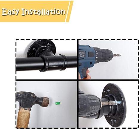 rampes descalier for rampes int/érieures et ext/érieures 1FT//30cm d/écor de Maison Rampes de tuyauterie industrielles for escaliers Rampe Murale de s/écurit/é for la Maison