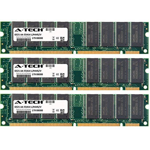 (A-Tech 384MB KIT (3 x 128MB) For Gateway GP Series GP6-266 (DIMMS) GP6-300 GP6-333 GP6-350 GP6-400 GP6-433c GP6-450 GP6-466cn GP7 (440BX Chipset) GP7 (PIII) GP. DIMM SD NON-ECC PC100 100MHz RAM Memory )