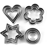 Okayji Stainless Steel Cookie Cutter Set, 12-Pieces, Silver