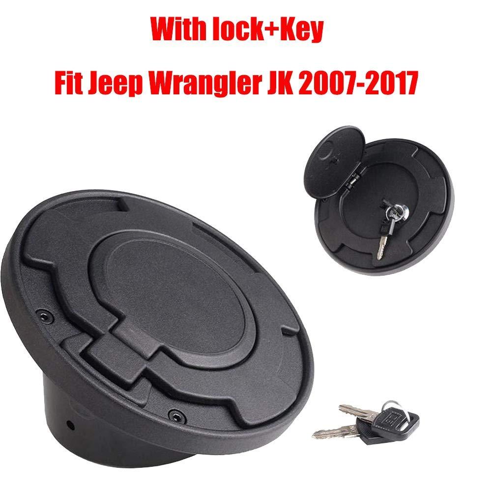 Silver WYYINLI Gas fuel tank Cap Cover Black Fuel Tank Door Filler Gas Lid For Jeep Wrangler JK /& Unlimited 2007-2018 2//4 Door