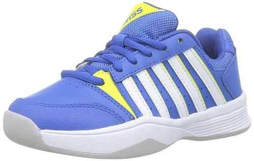 K-Swiss Performance Court Smash Carpet-strngblu/Nenctrn/WT-m, Zapatillas de Tenis para Niños: Amazon.es: Zapatos y complementos
