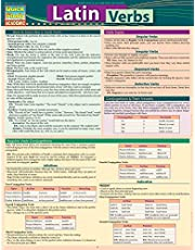 Latin Verbs: Quickstudy Laminated Reference Guide