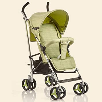 JIANXIN Carro De Bebé Paraguas De Aluminio Súper Ligero Plegable Y Amortiguador Puede Sentarse En El Carrito De Bebé. (Color : Green): Amazon.es: Hogar