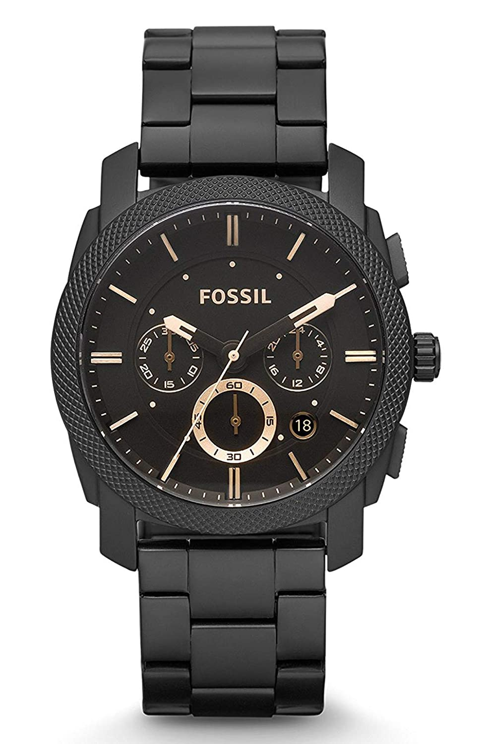 Fossil FS4682 Machine Black Dial Chronograph Watch for Men