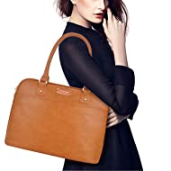Laptop Tote Bag,15.6 Inch Tote Bag for Women Classic Laptop Case Shoulder Bag for Work[L0009/Brown]
