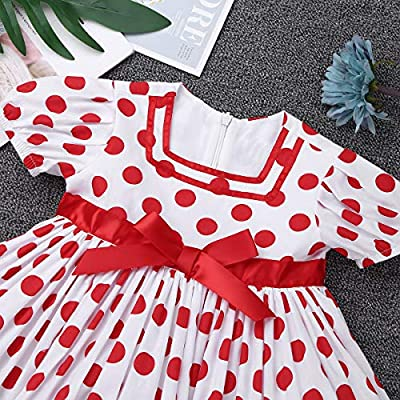CHICTRY Baby Girls' Little Cutie Princess Dress Polka Dot Costume for Halloween Christmas Party: Clothing