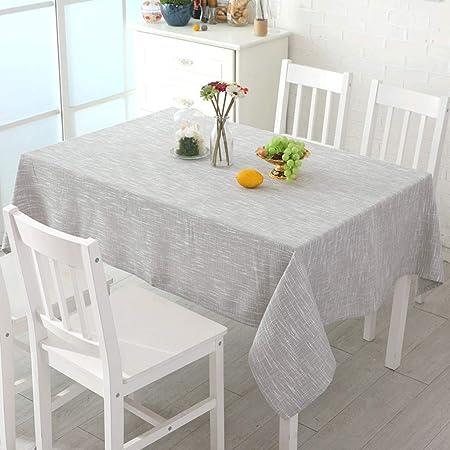 Mantel- Color sólido Cuadrado de algodón y Mantel de Lino Mesa de ...
