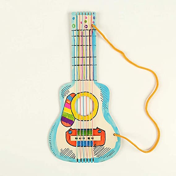 Kerhcusde Niños Dibujo Graffiti Madera en Blanco DIY Guitarra ...