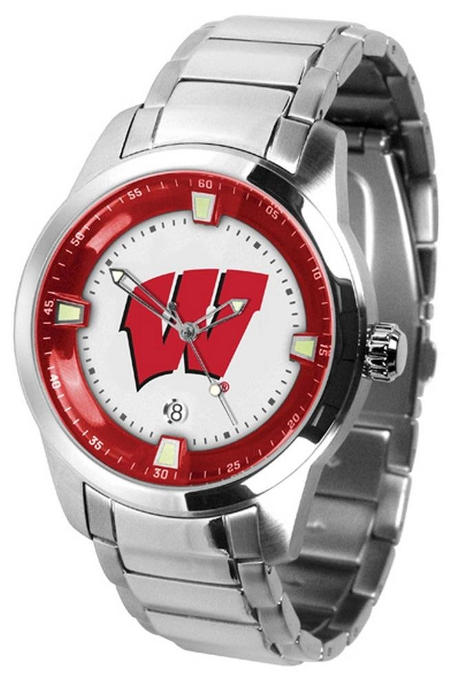 Wisconsin Badgers Titanスチールメンズ腕時計 B002BGDSW8