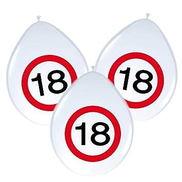 8 Stk Geburtstag Luftballon Verkehrsschild 60 Jahre Party Deko