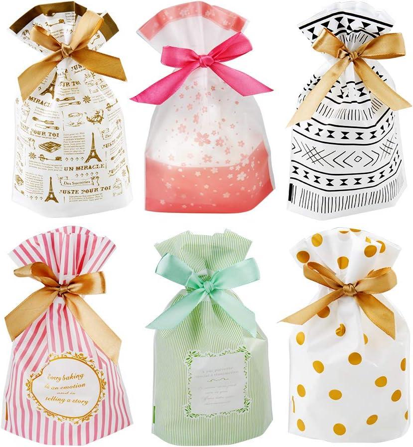 Bolsas de Regalo Set ,30pcs Candy Bag, Bolsa de Galletas y Bolsa de Dulces para Boda Regalos Fiesta de Cumpleaños