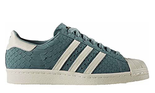 ZAPATILLA SUPERSTAR 80S W ADIDAS VERDE PIEL CON ESCAMAS (UK4,5)