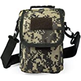 SPAHER Small Men Side Bag Shoulder Bag Outdoor Sports Hiking Waist Pack Crossbody Tactical MOLLE EDC Cellphone Pouch Belt Bum Bag Business Fanny Pack Hip Bag Messenger Sling Bag Travel (Acu)
