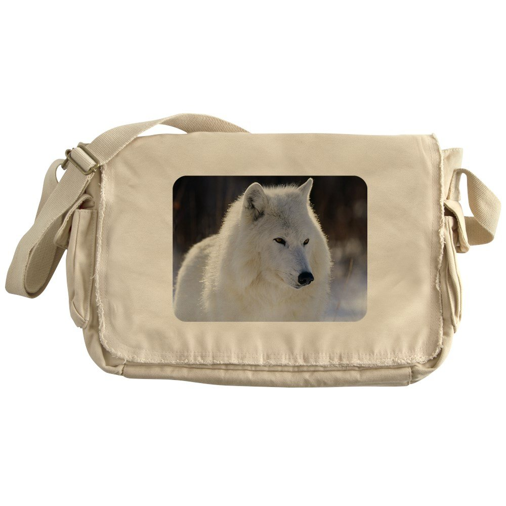 Royal Lion Khaki Messenger Bag Arctic White Wolf