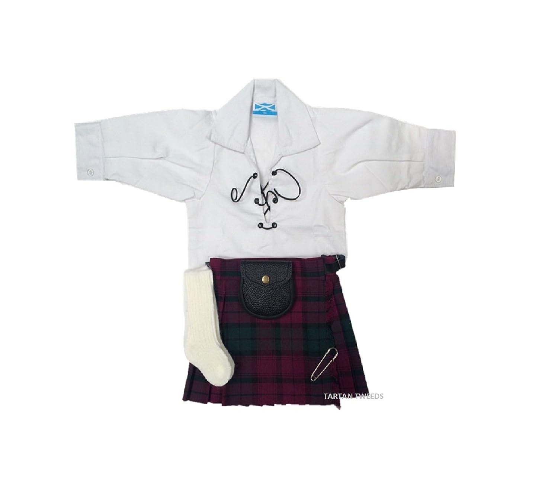 Del bebé Lindsay diseño rockero a cuadros escoceses falda escocesa ...