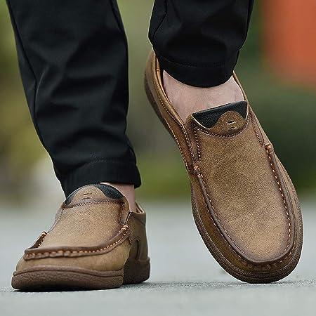 Botas para hombres Botines increíbles de cuero de PU de dos tonos con cordones para hombres
