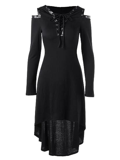 0a726044d41 JapanAttitude Robe Tunique Noire avec Capuche