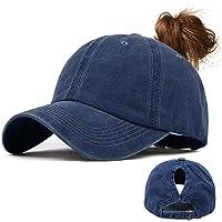 Voqeen Gorras de Beisbol para Hombre Mujeres Classic Ajustable Sombreros de béisbol de Cola de Caballo Moda Color sólido…