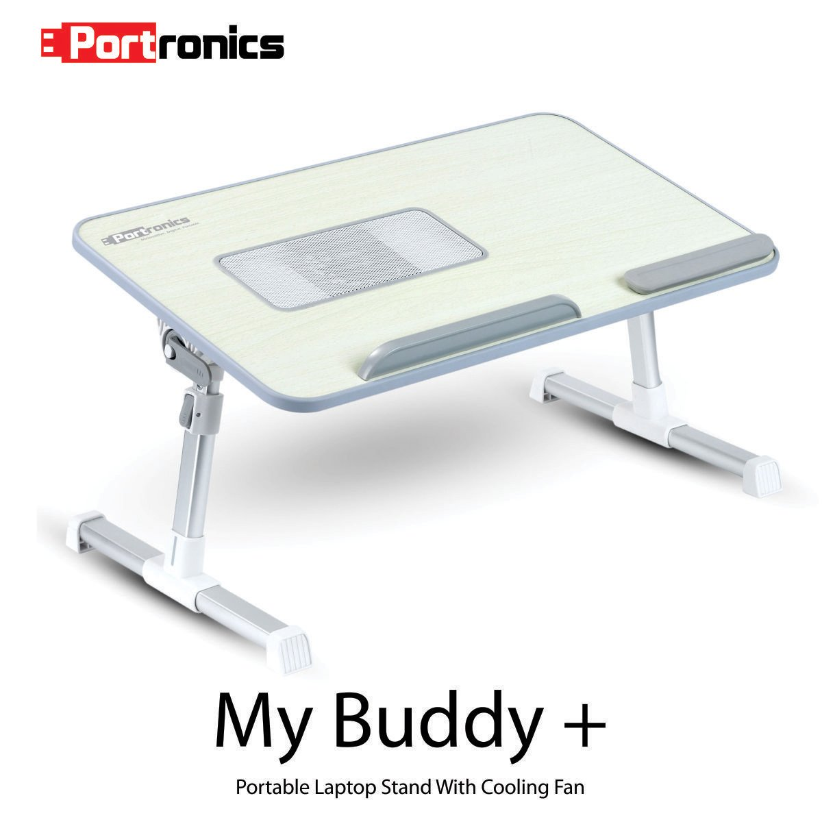 Portronics POR-704 Adjustable laptop cooling table, portable laptop desk, portable laptop table, Portable Multipurpose Laptop Table, Foldable laptop cooling table