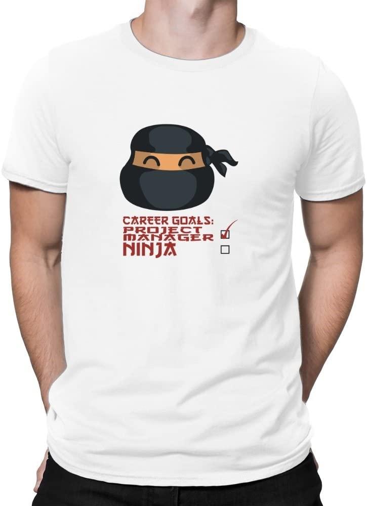 Teeburon Career Goals Project Manager Ninja Camiseta: Amazon ...