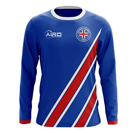 Image Unavailable. Image not available for. Color  Airo Sportswear 2018-2019  Iceland Long Sleeve Home Concept Football Soccer T-Shirt Jersey 2bfe980a2