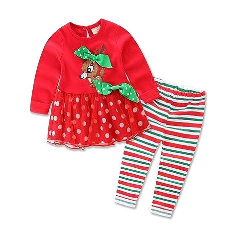 DYMAS Los niños Traje de Navidad niños Navidad bebé Ciervos ...