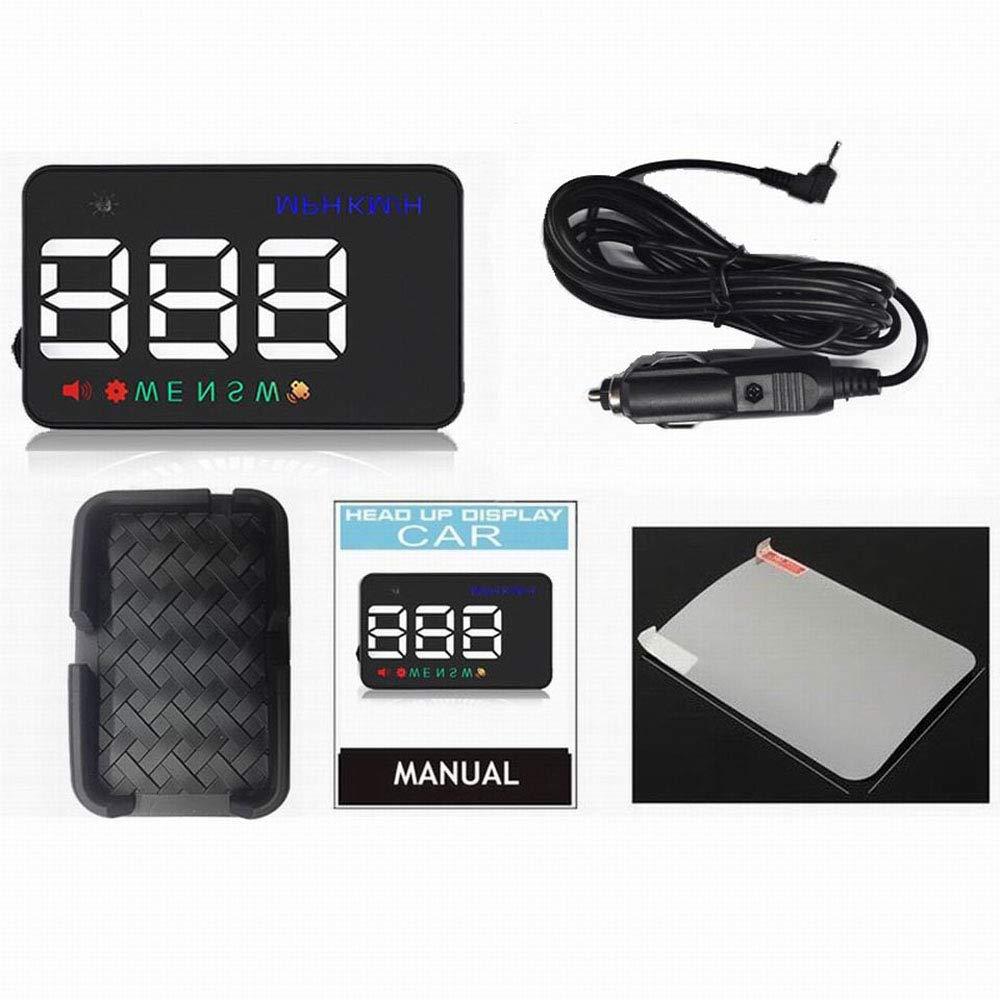 GPS HUD Head up Display Auto GPS tachimetro proiettore Parabrezza odometro Bussola Allarme velocit/à e Adattatore per Auto
