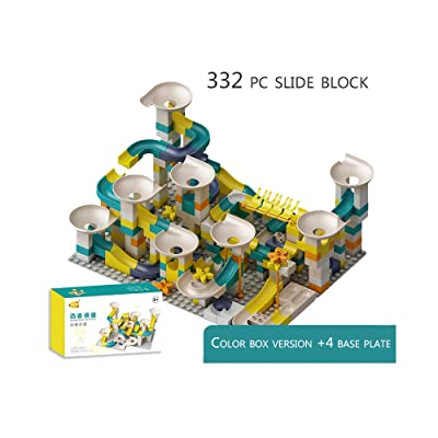 QREZ Marble Run Building Blocks Construction Toys Set, Puzzle Maze Building Set, Marble Roller Coaster Building Block Construction Toys for Children Learning Playset,332 Accessories: Sports & Outdoors