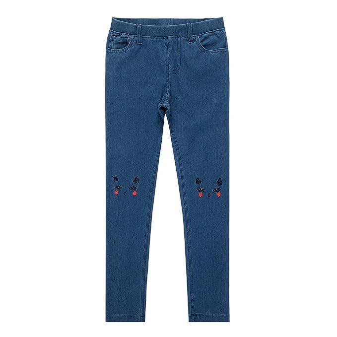 Amazon.com: UNACOO - Pantalones vaqueros para niñas con ...