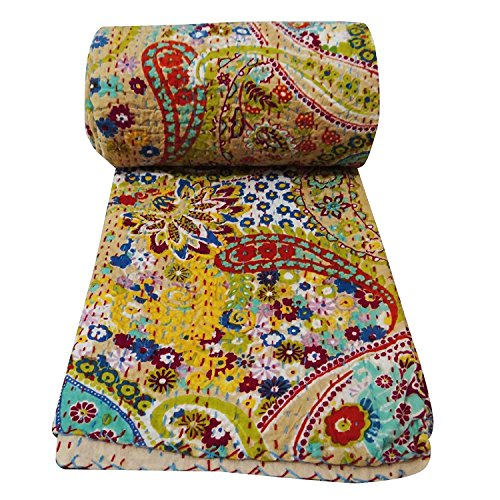 indian kantha quilt - 8