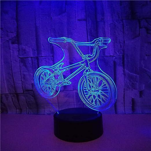 Bicicleta teledirigida 3D LED luz fantasma noche, 7 colores ...