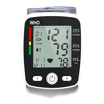 Tensiómetro De Muñeca, Monitor De Presión Arterial Alta Precisión Y Detector Irregular De Latidos Cardíacos