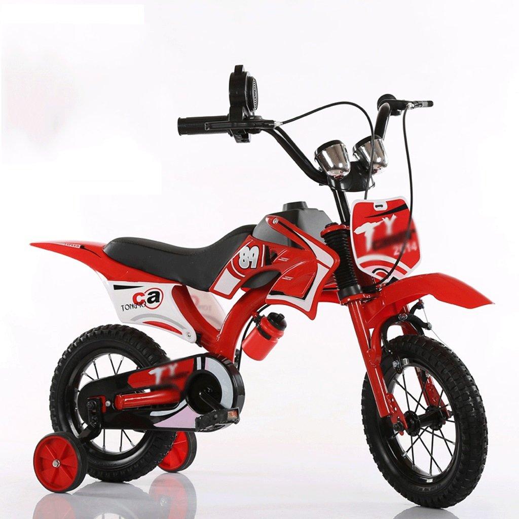 自転車 子供のオートバイの形のバイク2-3-5-6-7-8歳の誕生日ギフト男性と女性のための12/14/16/18インチ (サイズ さいず : 14 inch) B07DYGWJDN14 inch