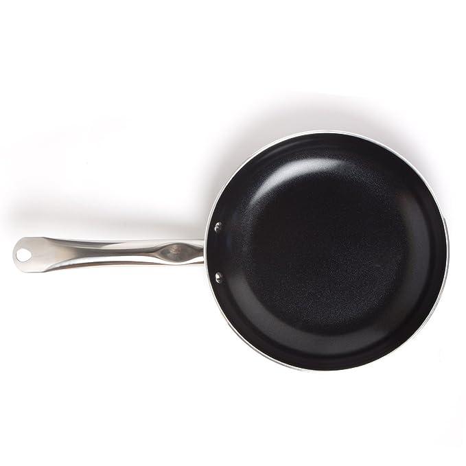 Sarten de ceramica negra ecologica antiadherente -Sarten de alumino con recubrimiento ceramico de 24cm x 5cm color negro – Schukaps Home –