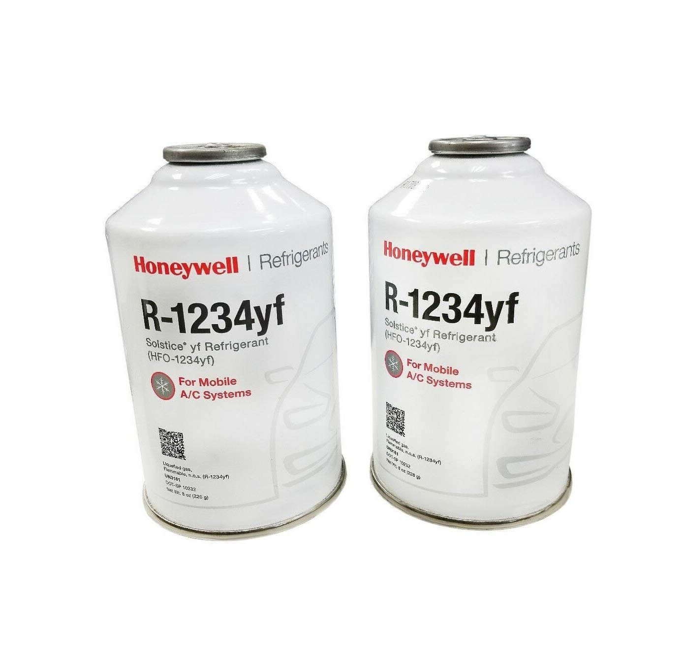 Pair Cans of R-1234YF R1234yf Refrigerant 7.99ounce Compatible w/SoIstice Quick Delivery