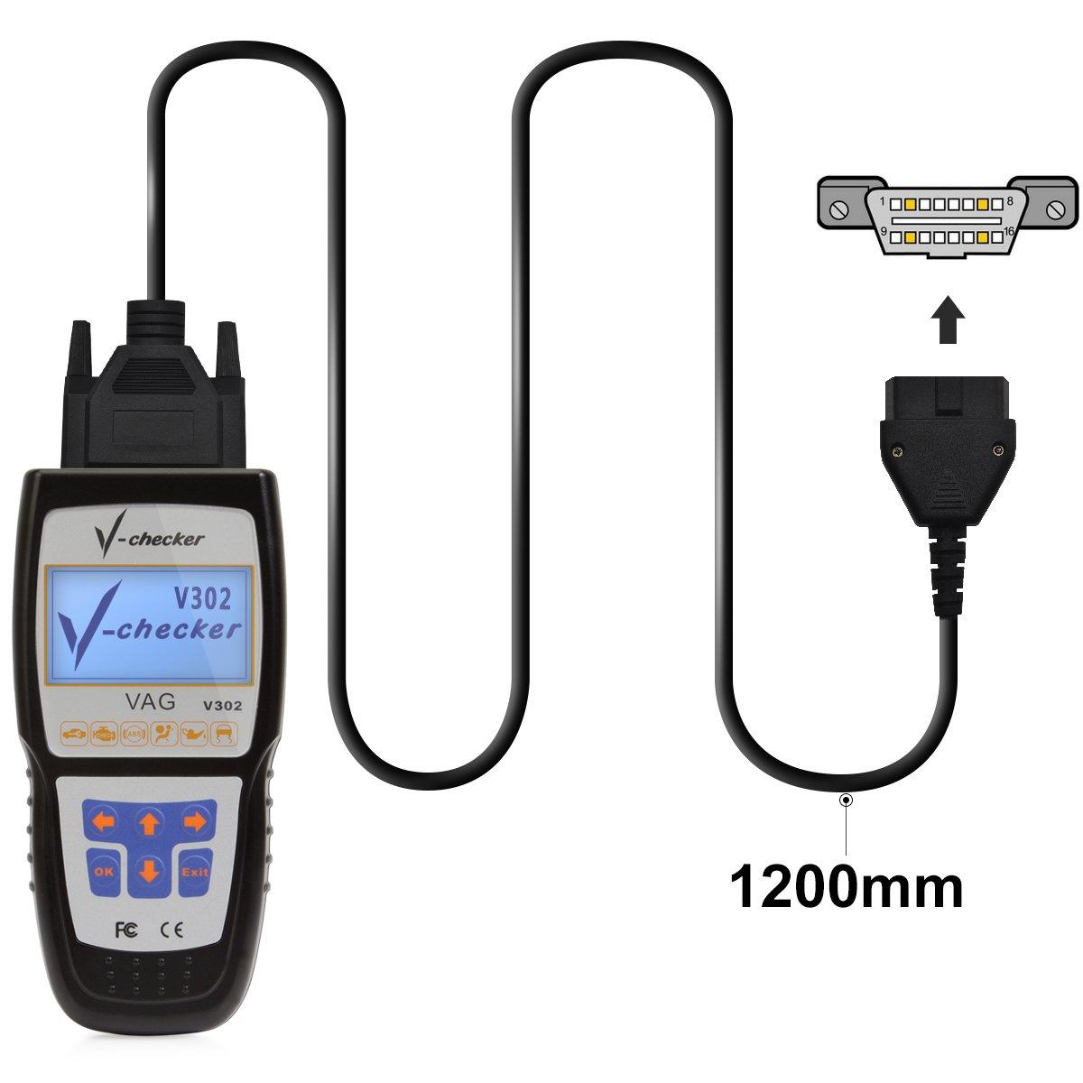 VAG Audi Volkwage Skoda Seat Scanner Vag Com Car Code Reader Fault Code Clear Diagnostic Scan Tool For VW Audi Skoda Seat by Autodiag (Image #4)