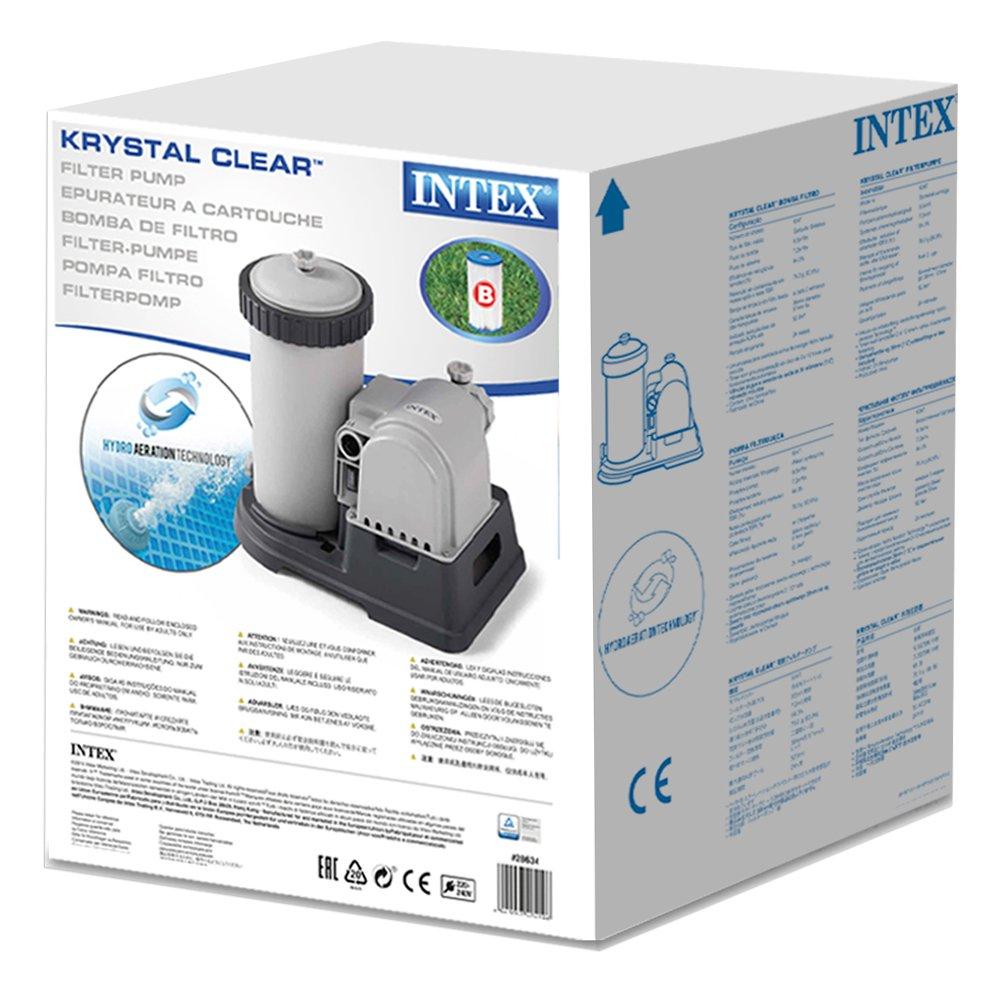 Intex 28634 - Depuradora cartucho tipo B Krystal Clear 9.463 litros/hora: Intex - 56634Fr - Accessoires Piscines - Filtre Épurateur À Cartouche 9,5 M3/H ...