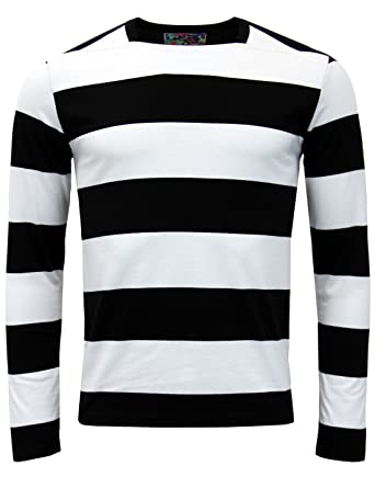 a09fe60f6a Ally Pally MADCAP ENGLAND Mod Straight Neck LS Tee in Black/White MC315  (40""