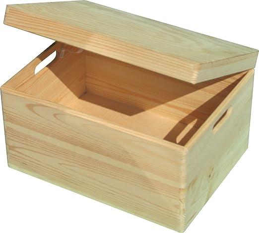 Caja de plástico con tapa (40 x 30 x 14 cm: Amazon.es: Hogar