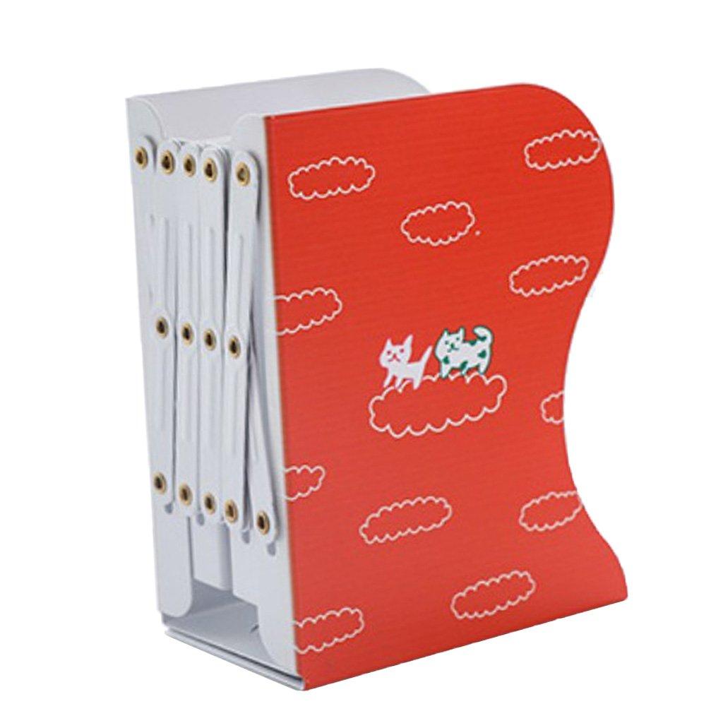 Homyl Adjustable Desktop Bookends Book Racks Book Stands Book Holder Non-skid 3-Grids Book Shelf Rack - #8, 15x10x19cm