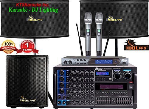 PACKAGE IDOLpro 6000W Professional Karaoke Mixing Amplifier W/ Bluetooth, HDMI, Recording, Equalizer Plus 12
