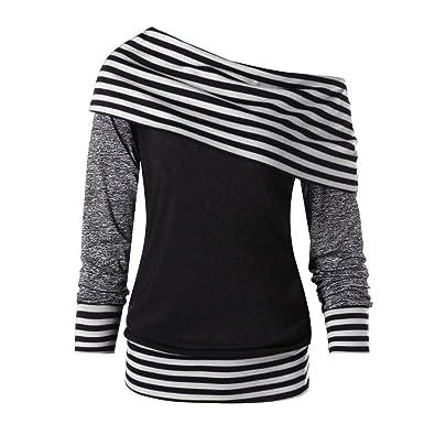 Fascino-M Sudaderas de Mujer Sudaderas Oversize Casual Camiseta ...
