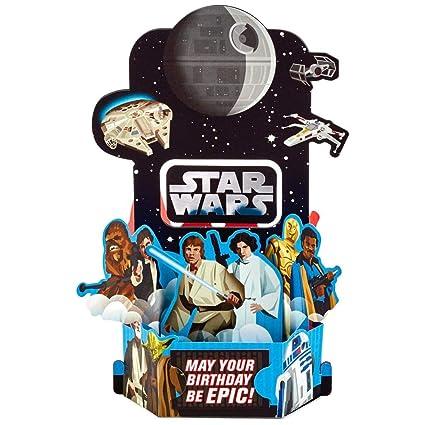Hallmark Star Wars - Tarjeta de cumpleaños con diseño de pop ...
