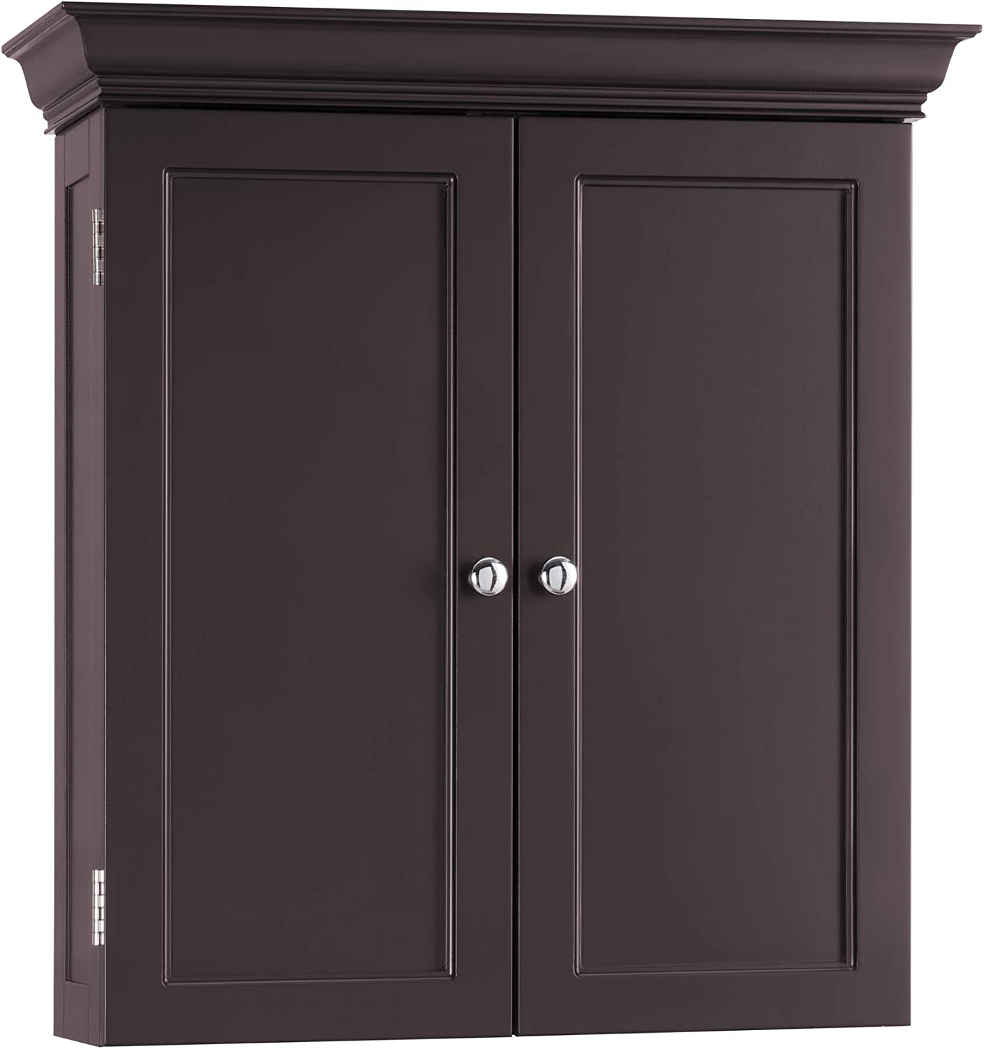 Elegant Home Fashion Stratford Wall Cabinet with 2 Doors-Espresso