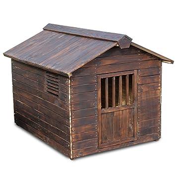 Perro Interior Al Aire Libre Caja,Perreras De Anticorrosión Madera Sólidas Casa Perro Madera Encuadernado